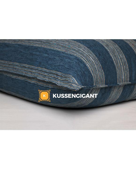 Leefkussen Stof 100 x 140 Gestreept Blauw