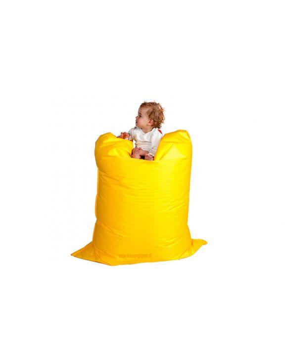 Zitzak  geel met binnenkussen 140 cm x 100 cm