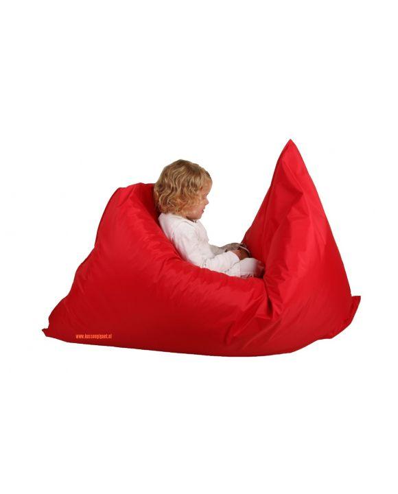 Zitzak Lazy Bag rood met binnenkussen