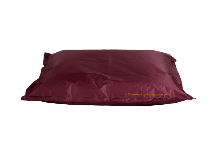Zitzak Big Bag.Zitzak 165 Cm X 140 Cm Bordeauxrood Met Binnenkussen