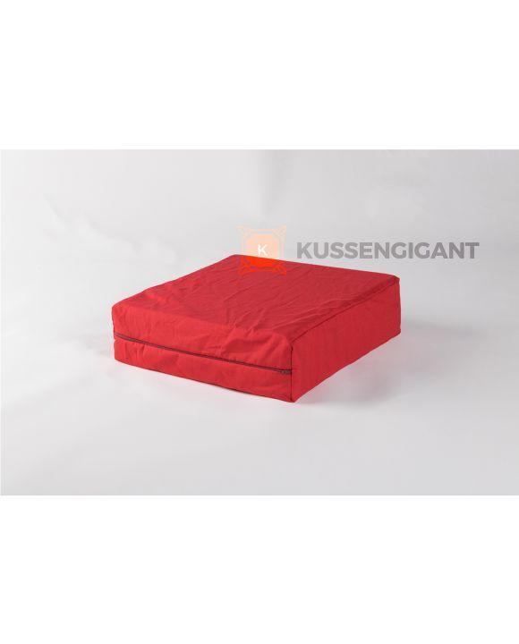 40x40x8 Mosgroen & 40x40x12 Rood Kussens Outdoorstof