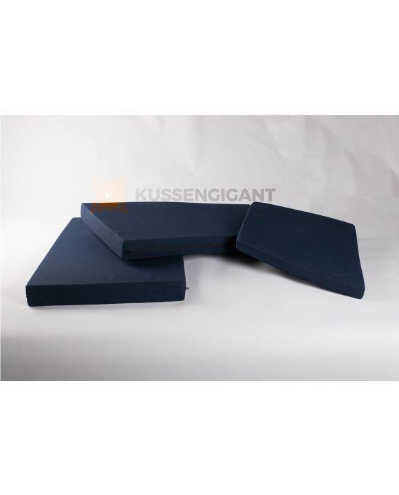 50/70x50x5 & 100x57x8 Outdoorstof Wifera Blauw kussens