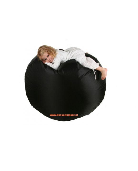 Loungepoef 110 × 35 met binnenkussen Zwart