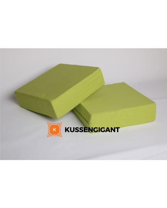 2 65x60x8 Outdoorstof Groen kussens