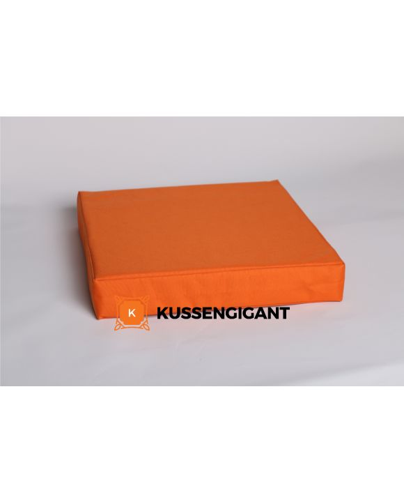 45x45x8 Outdoorstof Oranje kussen